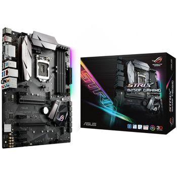 Placa-Mãe ASUS p/ Intel LGA 1151 ATX ROG STRIX B250F GAMING, DDR4, Aura Sync,Áudio Gamer,USB 3.1 Tipo A e C, Rede Intel, CFX, DVI/HDMI/DP