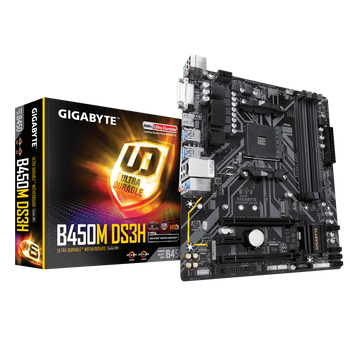 PLACA MAE GIGABYTE B450M DS3H DDR4 SOCKET AM4 CHIPSET AMD B450