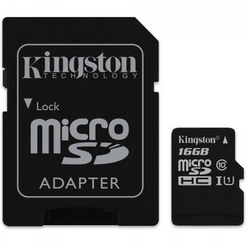 Cartao de Memoria Micro SD Kingston 16GB Classe 10 SDC10G2/16GB