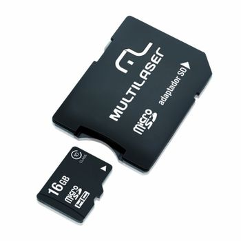 Cartao de Memoria Micro SD Multilaser 16GB Classe 10 MC110