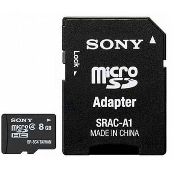 Cartao de Memoria Micro SD Sony 8GB Classe 4 SR-8A4/TQ2