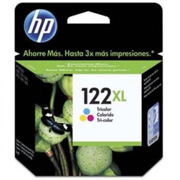 Cartucho de Tinta HP 122XL Colorido Original Alto Rendimento - CH564HB
