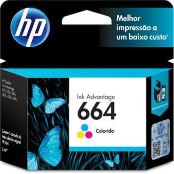 Cartucho de Tinta HP 664 Colorido Original