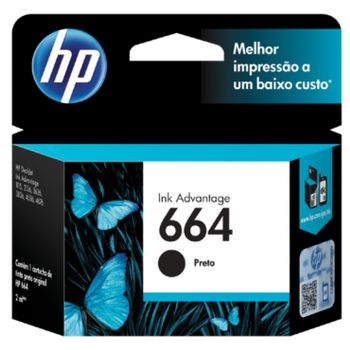 Cartucho de Tinta HP 664 Preto Original