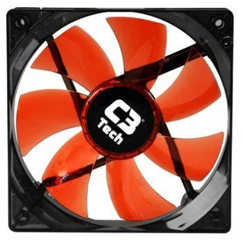 Cooler P/ Gabinete C3Tech F7-L100RD Vermelho