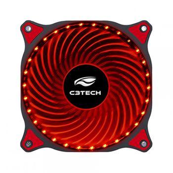 Cooler P/ Gabinete C3Tech F7-L130RD Vermelho