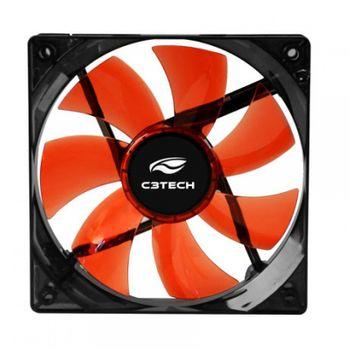 Cooler P/ Gabinete C3Tech F7-L50RD Vermelho