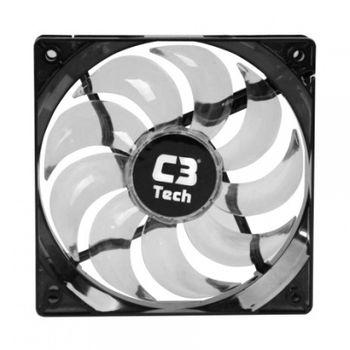 Cooler P/ Gabinete C3Tech F9-L100WH Branco