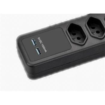 Filtro de Linha Pctop FLP-04 5 Tomadas + 2 USB