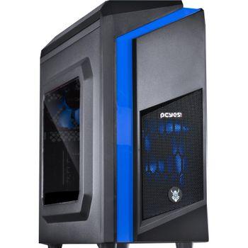 Gabinete Gamer  Pcyes Dwarf Azul