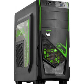 Gabinete Gamer Pcyes Java Verde