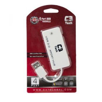 Hub USB C3Tech HU-201WH Branco
