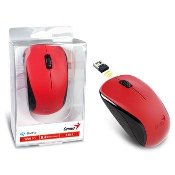 Mouse Sem Fio Genius BlueEye NX-7000 Vermelho 1200DPI