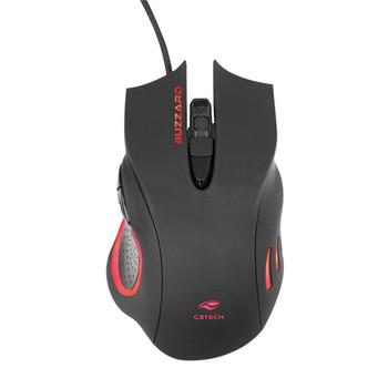 Mouse USB C3Tech Buzzard MG-110BK Gamer 3200DPI