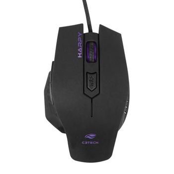 Mouse USB C3Tech Harpy MG-100BK Gamer 3200DPI