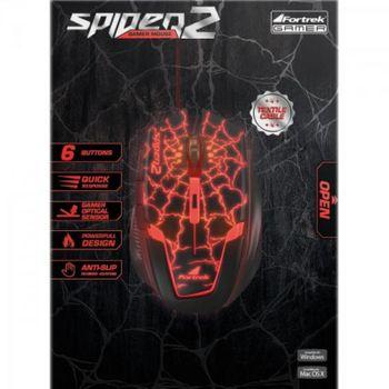 Mouse USB Fortrek Spider 2 OM-705 Gamer 3200DPI