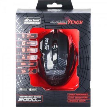 Mouse USB Fortrek Spider Venom OM-704 Gamer 2000DPI