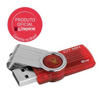 Pendrive 8GB Kingston DataTraveler DT101G2/8GB Vermelho