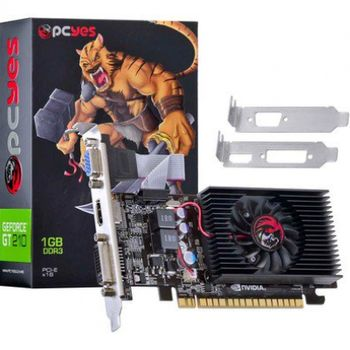 Placa de Vídeo 1GB GT 210 Pcyes DDR3 64BITS Low Profile (Kit Incluso) - N21T2GD364LP