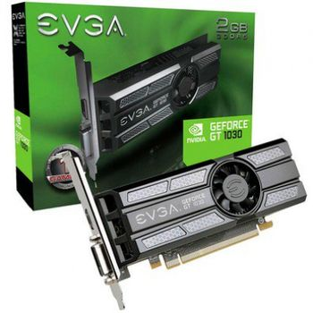 Placa de Vídeo 2GB GT1030 EVGA SC GDDR5 64BITS Low Profile 02G-P4-6333-KR