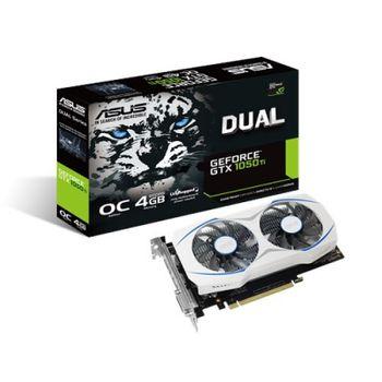 Placa de Vídeo 4GB GTX1050 TI OC ASUS DUAL GDDR5 128BITS