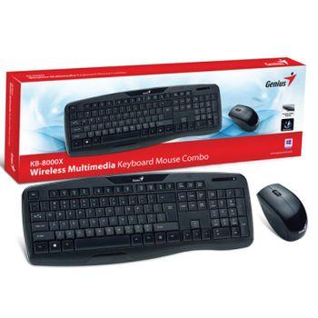 Teclado/Mouse Sem Fio Genius KB-8000X