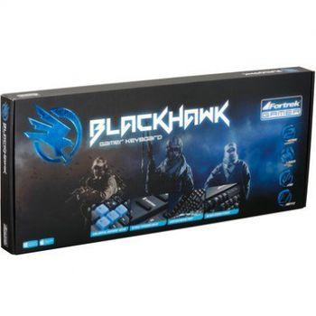Teclado USB Fortrek Gamer BlackHawk GK-702 Preto/Azul