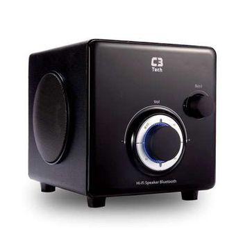 Caixa de Som C3 Tech 2.1 10W Rms, Bluetooth, USB, AUX, Micro SD, FM-SP-330B Preta