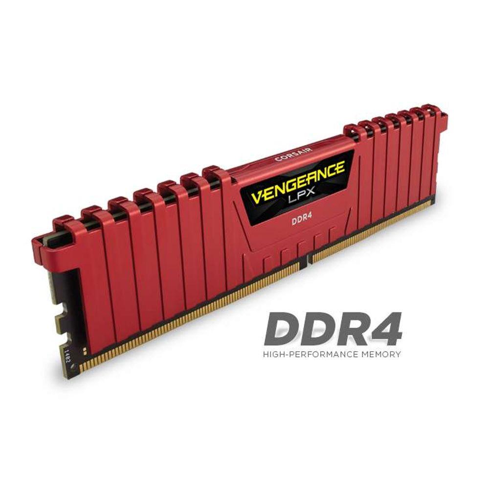 Memoria Kit - Red Vengeance LPX 16GB (2x8GB) DDR4 DRAM 2400MHz C14 (CMK16GX4M2A2400C14R)