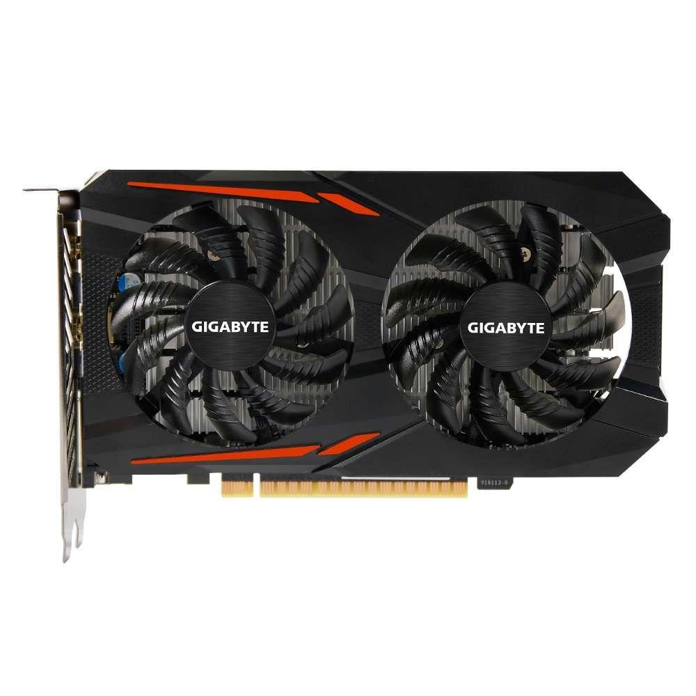 Placa de Vídeo nVidia Gigabyte 4GB GTX 1050 Ti OC DDR5 128Bits - GV-N105TOC-4GD