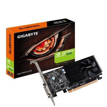 Placa de Vídeo nVidia Gigabyte GT1030 2GB GDDR5 128Bits Low Profile GV-N1030D5-2GL