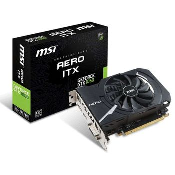 Placa de Vídeo Msi Geforce Aero Itx Oc Edition Gtx1050 2gb Gddr5 128 Bits