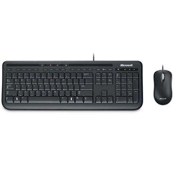 Kit Teclado e Mouse Microsoft USB Desktop Wired 600 Preto 3J2-00006