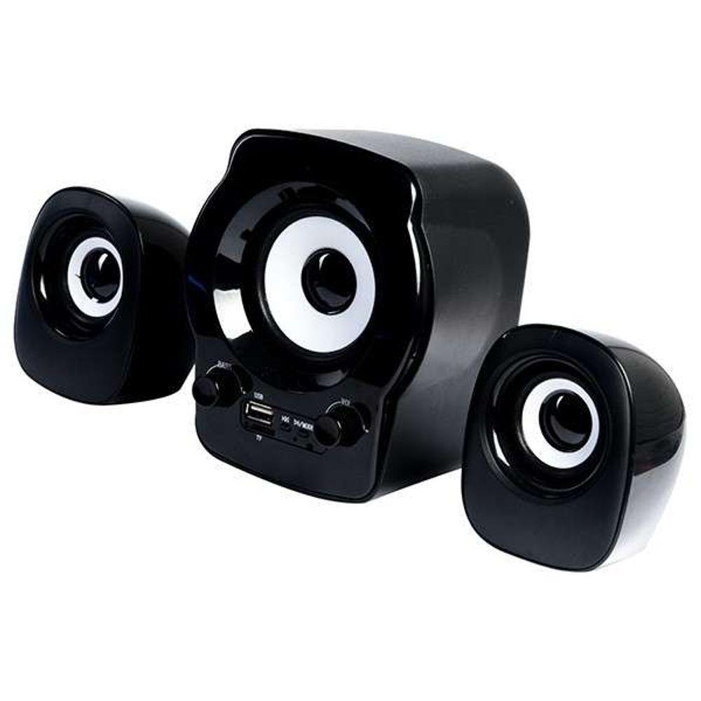 Caixa de Som Speaker 2.1 C3Tech SP-10 BK FM/SD/USB - 3W RMS
