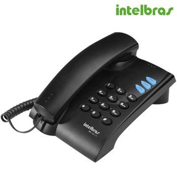Telefone Intelbras com fio IP TIP 100 Lite - Preto