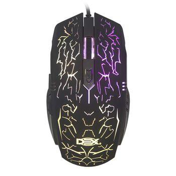 Mouse Gamer Dex LTM-985 3200DPI com Iluminação Preto