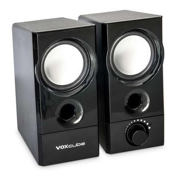 Caixa de Som Voxcub 10W USB P2 Preta VC-D420