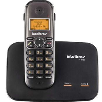 Telefone sem fio digital com entrada para 2 linhas