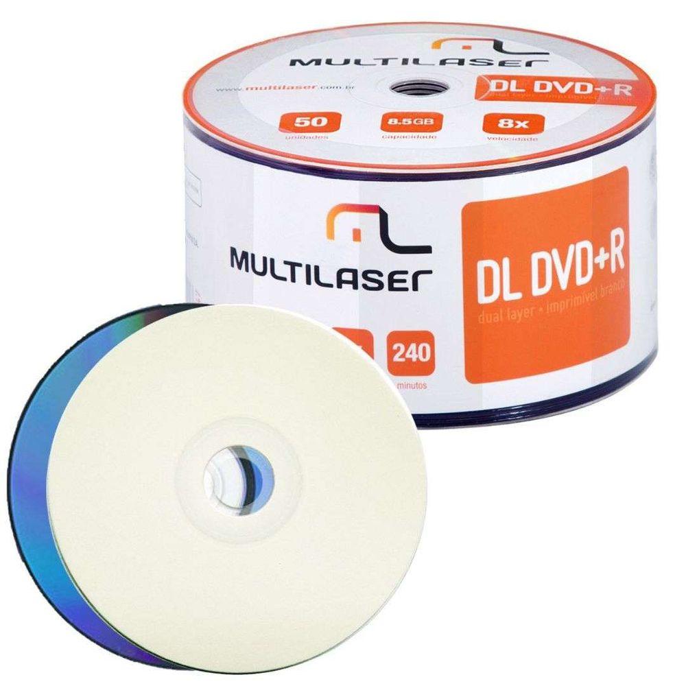 Multilaser DL DVD+R 8.5GB 8x Imprímivel Shrink DV047