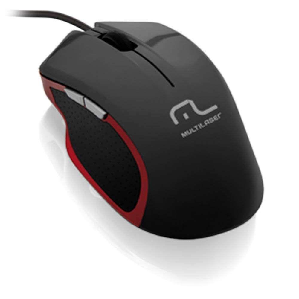Mouse Gamer Multilaser Xgamer 2400Dpi Black/Red - MO196