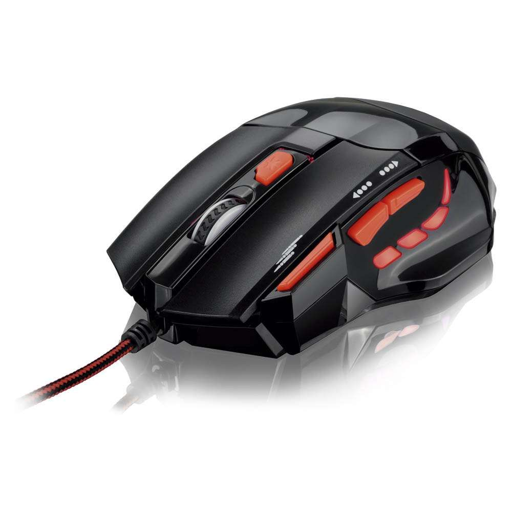 Mouse XGamer Fire Button 2400Dpi Multilaser MO236 Pto/Verm.
