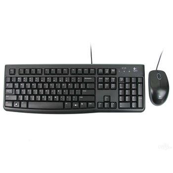 Kit Teclado e Mouse Logitech USB Desktop MK120 Preto