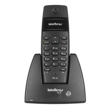 Telefone Intelbras S/Fio TS40 Preto,Tecnologia DECT 6.0