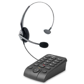 Telefone Intelbras Headset com Base Discadora HSB50 Preto