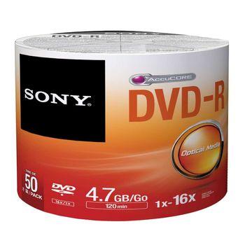 Midia DVD-R Sony 4.7GB 120 Min 16x Sleeve c/50 50DMR47SBZ2LA