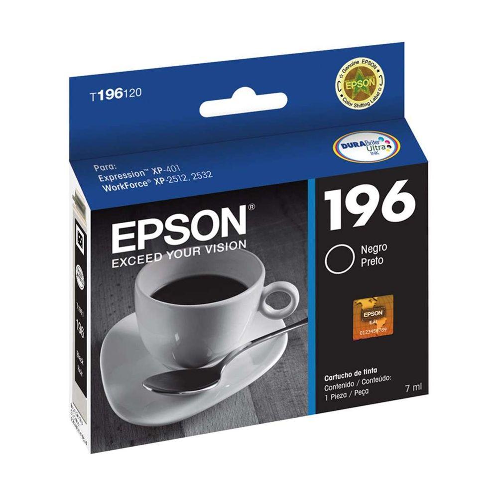 Cartucho de Tinta Epson T196120-BR Preto 5 ML