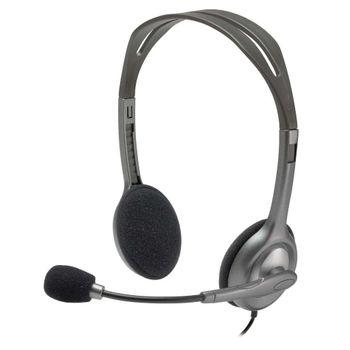 Headset Logitech H111Cinza