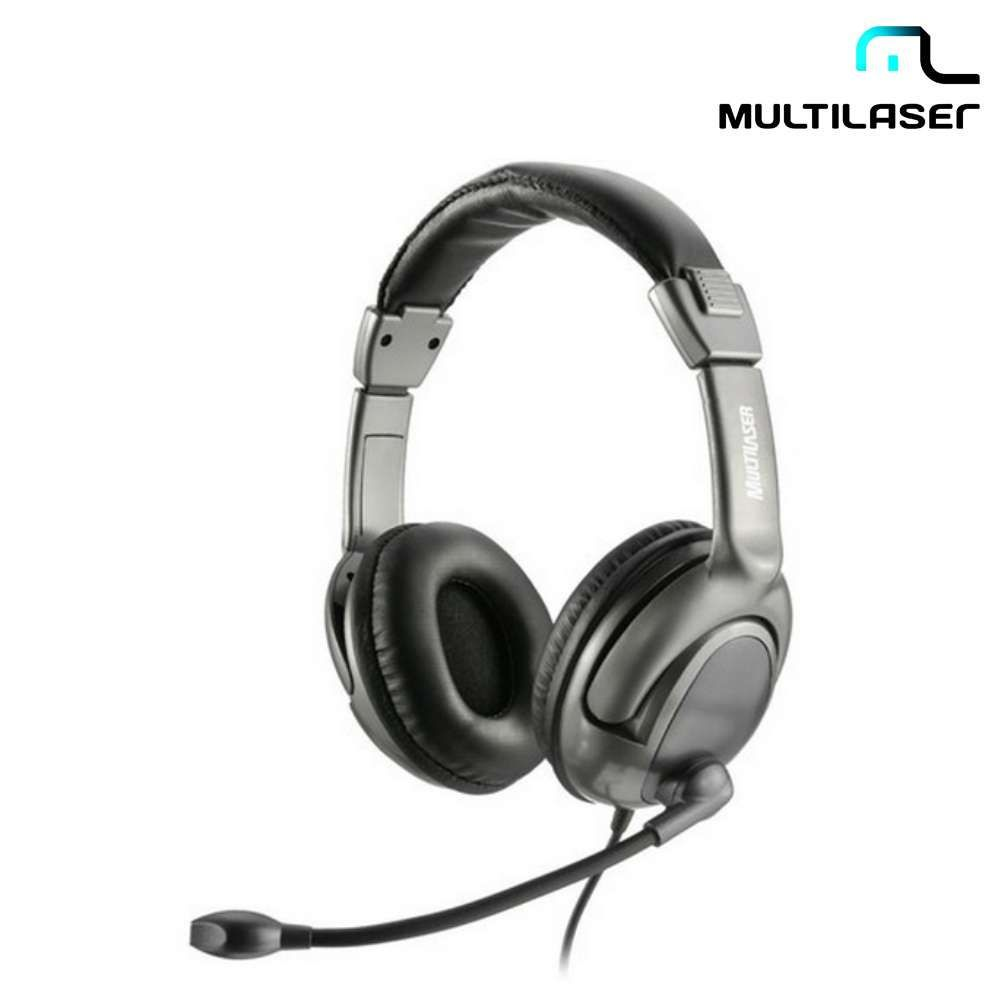 Headset Multilaser Acoustic Flexível USB PH043 Preto