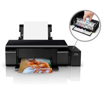 Impressora Fotogrática Epson Jato de Tinta Ecotank L805 Colorida Wi-Fi com Impressão em CD