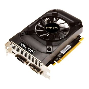 Placa de Vídeo VGA PNY GeForce GTX 750 1GB DDR5 128 bits - VCGGTX7501XPB
